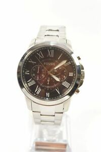 Fossil FS5628 Grant Wine Dial Silver Stainless Steel Men's Chronograph Watch