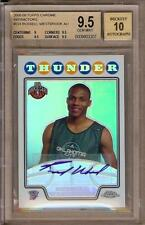 2008-09 TOPPS CHROME REFRACTOR RUSSELL WESTBROOK RC AUTO 022/145 BGS 9.5 / 10!!
