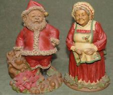 Tom Clark Signed Gnome Santa I & Mrs. Belle Kringle Euc with Coa's ~ Retired