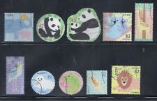 Japan 2018 Zoo Animals Pandas Complete Used Set of 10 Stamps 82Y Scott# 4221 a-j