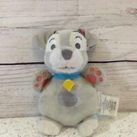 Disney store-Disney baby- lady and the Tramp - 'Tramp' soft plush rattle / toy