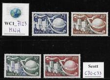 WC1_7123. MONACO. 1949 75th ANNIVERSARY UPU air mail set. Scott C30-C33. MNH