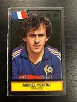 MICHEL PLATINI STICKER PLASTIC FOOTBALL SUPERSTARS 1985-86 NEW NEAR MINT