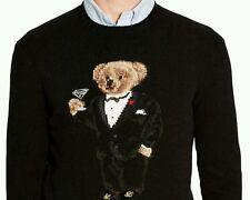 NEW Polo Ralph Lauren Martini Polo Tuxedo Bear Wool Sweater Knit extra large