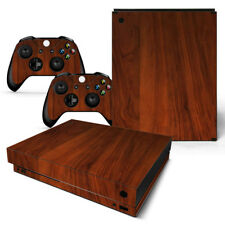Xbox One X Skin Design Foils Sticker Screen Protector Set - Wood 3 Motif