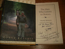 The Man Who Listens to Horses By Monty Roberts, SIGNED COPY,1997 HARDBACK