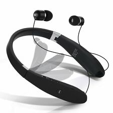 Dostyle Bluetooth Headset Wireless Neckband with Retractable Earbuds Bluetooth H