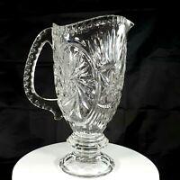 Antique ABG American Brilliant Heavy Crystal Glass Georgian Pitcher Pinwheel