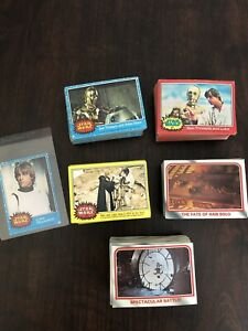 1977 Topps Star Wars Card Lot 53 Blue, 63 Red, 57 Yellow 142 1980 Empire Cards!
