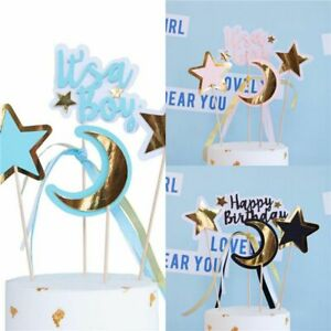 It's a Boy Moon Ornaments Star Plug-in It's a Girl Cake Flag Cake Insert