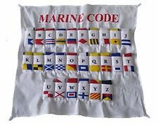 COTTON - U.S. Navy Signal Code FLAG Set  - Set of Total 26 flag with CASE COVER
