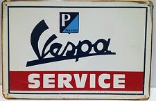VESPA SERVICIO Vintage Retro Tin Metal Sign Placa Decoración del hogar Garaje Studio pub