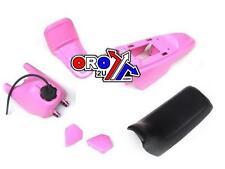 New YAMAHA Pee Wee PW 50 Plastics Plastic Kit Tank Seat Front & Rear Fender Pink