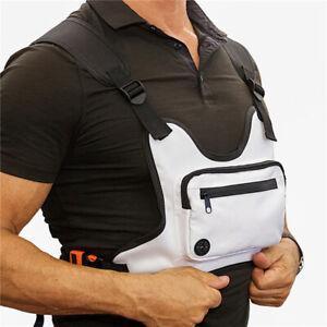 Reflective Running Chest Rig Bag Phone Holder Front Pack Streetwear Sports Vest