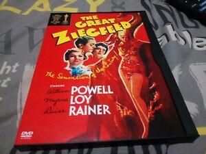 The Great Ziegfeld DVD. Region 1 Import. Like New, snapper, keep case