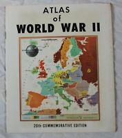 Vintage-1965 Atlas Of World War II 20th Commemorative Edition Booklet - NICE