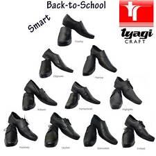 Boy School Shoes Teenage Men Black Leather Smart All Size Uniform