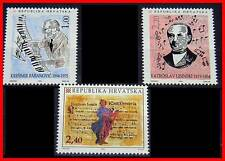 CROATIA 1994 MUSIC / COMPOSERS, NOTES x3 STAMPS MNH