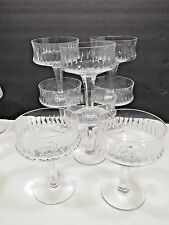 "8 Webb Corbett Royal Doulton SONNET 5.25"" Tall Sherbet Chanpagne Crystal Glasses"