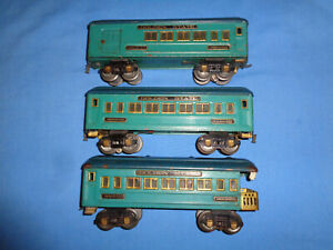 American Flyer Golden State Cars #3280 Club , #3281 Pullman & #3282 Observation