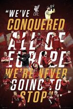 LIVERPOOL - CONQUER EUROPE POSTER - 24 x 36 - SOCCER FOOTBALL 34369