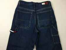 mens 33x30 TOMMY HILLFIGER jeans carpenter faded blue flag patch vintgae 90's