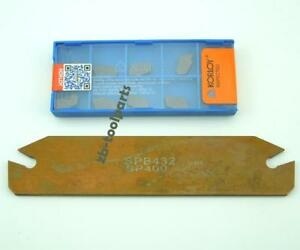 10pcs Carbide Inserts SP400+SPB32-4mm Grooving Slotting tool Cutter Plate SPB432