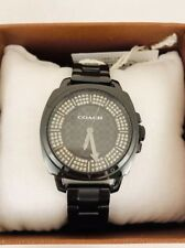 Coach Boyfriend Ladies Black Ion Watch 14502077, New!
