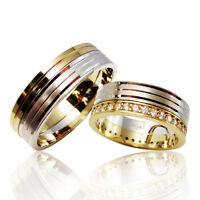 2 Silber Trauringe mit Gravur + Etui Eheringe Verlobungsringe Partnerringe 3313