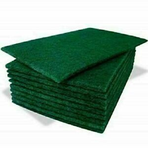 Large Professional Green Scourers Heavy Duty Catering Washing Up Scouring Pad