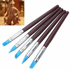 Clay Shaper 5pcs Wood Handle Silicone Rubber Sculpting Polymer Pottery Tools