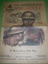 LOS ANGELES TIMES MAGAZINE JUNE 28 1931 IT WAS A GAY OLD WAR RARE!