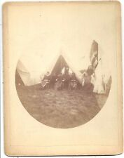 Photograph ~ Indian Wars or Spanish American War Soldiers in a Tent ~ Camera