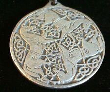 Celtic Horses Goddess Epona Pewter Pendant Leather Necklace! New Irish Roman