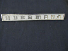 "Vintage  ""HUSSMANN""  Emblem METAL APPLIANCE"