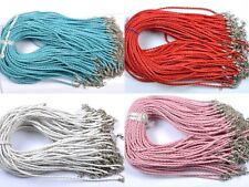 Elige(12 colores)10 PIEZAS Mezclas De Colores Trenzado Cuero Collar Cordón
