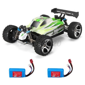 WLtoys A959-B 1/18 4WD Truck Off Road RC Auto 70km/h Two Battery Brushed Motor