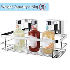 Suction Cup Shower Caddy Bathroom Shelf Trays Vacuum Storage Rustproof Stainless