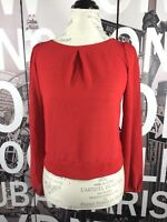 Do & Be Red Cut Out Back Blouse Size Medium