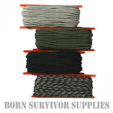PARACORD 15M WINDER 3mm - 50ft Nylon Para Cord Tent Tarp Guy Rope Green Black