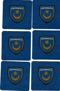 PORTSMOUTH F.C. Pack of Official Crested Beer Mats / Coasters FREE POSTAGE UK