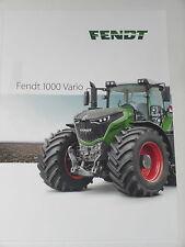 FENDT 1000 VARIO, 1050 VARIO Traktoren Prospekt 08/16 in italienisch ( FENDT 74)