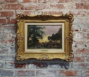 John Yeend King -View in Surrey Landscape-19th century oil painting c1890s