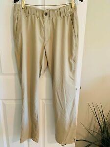 UNDER ARMOUR The Showdown Pant Men's Size 34 x 30 Tan 4 Pocket Pants
