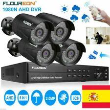 Kit de vigilancia 8CH AHD DVR sistema de seguridad 1080P HD 2.0MP cámara 3000TVL