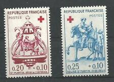 N° 1278 et 1279 paire Croix rouge  neufs ** année 1960