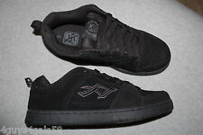 Mens Athletic Shoes BLACK LEATHER AIR SPEED Skateboarding LACE UP Size 8