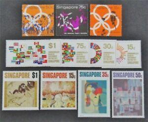 nystamps British Singapore Stamp # 116//156 Mint OG NH $30   L23x2886