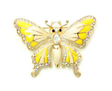 Butterfly Pin Brooch Sparkling AB Crystal Rhinestone Insect