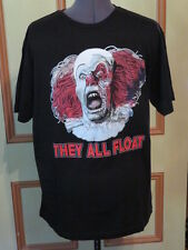 NWT MENS LARGE 2017 STEPHEN KING'S IT T-SHIRT PENNYWISE CLOWN THEY ALL FLOAT